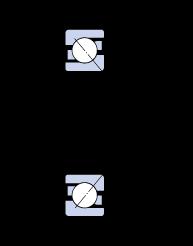 Однорядные радиально-упорные шарикоподшипники 7314 BEGAY