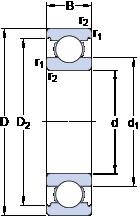 Однорядные радиальные шарикоподшипники INSOCOAT 6216/C3VL0241