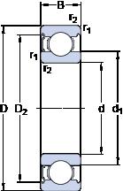 Подшипники шариковые радиальные однорядные 6213-Z