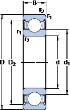 Однорядные радиальные шарикоподшипники для высоких температур 6214-2Z/VA228