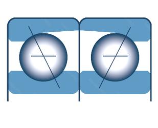 Подшипник шариковый радиально-упорный спаренный 7320T1DFTP5+TKZ0126