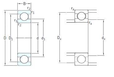 Подшипник шариковый радиальный 6211/HC5C3