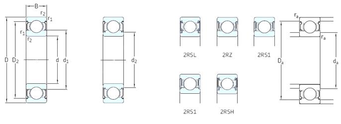 Подшипник шариковый радиальный 6208-Z
