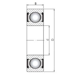 Подшипник шариковый радиальный 6208 ZZ