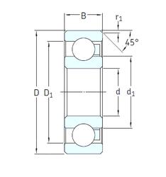 Подшипник шариковый радиальный 6209/HR11TN