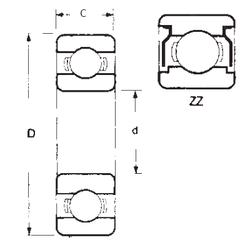 Подшипник шариковый радиальный 6207ZZ