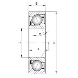 Подшипник шариковый радиально-упорный 7320 A