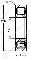 Подшипники роликовые радиальные с цилиндрическими роликами NUP313 E