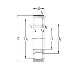Подшипник роликовый радиальный NUP314-E-TVP3