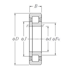 Подшипник роликовый радиальный NUP305E