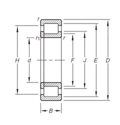Подшипник роликовый радиальный NUP305E.TVP