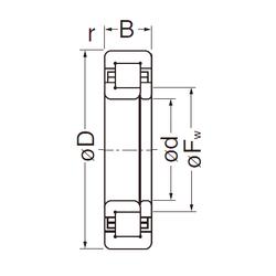 Подшипник роликовый радиальный NUP305EG