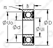 Подшипники шариковые радиальные однорядные 6213-2RS