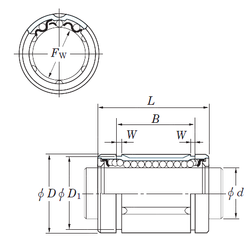 Подшипник шариковый линейный SDM12MG